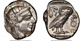 ATTICA. Athens. Ca. 440-404 BC. AR tetradrachm (24mm, 17.15 gm, 3h). NGC XF 5/5 - 3/5, brushed. Mid-mass coinage issue. Head of Athena right, wearing ...