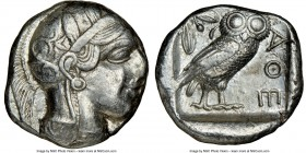 ATTICA. Athens. Ca. 440-404 BC. AR tetradrachm (24mm, 17.17 gm, 3h). NGC XF 3/5 - 3/5, brushed. Mid-mass coinage issue. Head of Athena right, wearing ...