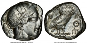 ATTICA. Athens. Ca. 440-404 BC. AR tetradrachm (23mm, 17.17 gm, 7h). NGC Choice VF 4/5 - 4/5. Mid-mass coinage issue. Head of Athena right, wearing cr...