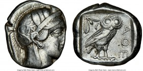 ATTICA. Athens. Ca. 440-404 BC. AR tetradrachm (24mm, 17.12 gm, 3h). NGC VF 2/5 - 3/5. Mid-mass coinage issue. Head of Athena right, wearing crested A...