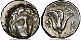 CARIAN ISLANDS. Rhodes. Ca. 250-230 BC. AR didrachm (18mm, 11h). NGC Choice VF. Erasicles, magistrate. Head of Helios facing, turned slightly right, h...