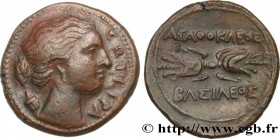 SICILY - SYRACUSE Type : Hemilitron  Date : c. 295-289 AC.  Mint name / Town : Syracuse, Sicile  Metal : copper  Diameter : 23,5  mm Orientation dies ...
