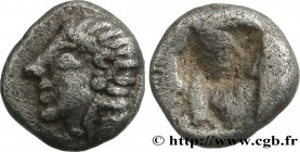 IONIA - ANONYMOUS Type : Hemiobole  Date : c. 550-500  Mint name / Town : Atelier incertain, Ionie  Metal : silver  Diameter : 6,5  mm Weight : 0,41  ...