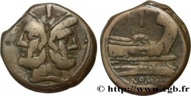 ROMAN REPUBLIC - ANONYMOUS Type : As  Date : c. 211 AC.  Mint name / Town : Rome  Metal : bronze  Diameter : 34,5  mm Orientation dies : 2  h. Weight ...
