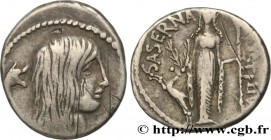 HOSTILIA Type : Denier  Date : 48 AC.  Mint name / Town : Rome  Metal : silver  Millesimal fineness : 950  ‰ Diameter : 19  mm Orientation dies : 3  h...