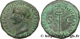 TIBERIUS Type : As  Date : 35-36  Mint name / Town : Rome  Metal : copper  Diameter : 27,5  mm Orientation dies : 7  h. Weight : 11,18  g. Rarity : R1...