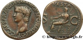 CALIGULA Type : As  Date : 37-38  Mint name / Town : Rome  Metal : copper  Diameter : 27,5  mm Orientation dies : 6  h. Weight : 10,07  g. Obverse leg...
