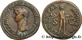 CLAUDIUS Type : As  Date : 50-54  Mint name / Town : Rome  Metal : copper  Diameter : 30  mm Orientation dies : 7  h. Weight : 12,53  g. Obverse legen...