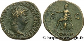 NERO Type : Dupondius  Date : 66  Mint name / Town : Rome  Metal : copper  Diameter : 27,5  mm Orientation dies : 5  h. Weight : 12,90  g. Rarity : R1...