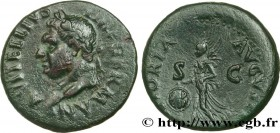 VITELLIUS Type : As  Date : mai - juillet  Date : 69  Mint name / Town : Tarragone  Metal : copper  Diameter : 28  mm Orientation dies : 7  h. Weight ...