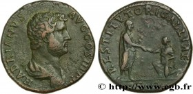 HADRIAN Type : Sesterce  Date : 136  Mint name / Town : Rome  Metal : copper  Diameter : 31  mm Orientation dies : 1  h. Weight : 27,14  g. Rarity : R...