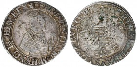Austria Holy Roman Empire 1 Thaler ND (1521-1564) Vienna. VERY SCARCE type. Ferdinand I Archduke of Austria (1521-1564) Av.: Crowned ½ figure right. R...