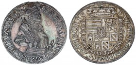 Austria Holy Roman Empire 1 Thaler Ferdinand II. Archduke (1564-1595). Hall mint. Av.: Crowned and armored bust right holding sword and scepter. Rv: C...