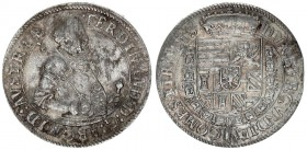 Austria Holy Roman Empire 1 Thaler (1577-1595 AD) Hall. Ferdinand Archduke (1564-1595). Av.: armoured half figure holding sceptre and sword hilt with ...