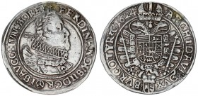 Austria Holy Roman Empire 1 Thaler 1624 Vienna Mint. Ferdinand II (1619-37). Av.: Older bust. Laureate armored bust r. wearing large ruff. Rv.: Imperi...