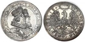 Austria Holy Roman Empire 2 Thaler (1626) Hall. Archduke Leopold V (1619-1632) Double Taler o.J. (1626) On his wedding with Claudia de' Medici. Crowne...