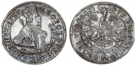 Austria Holy Roman Empire 1/4 Thaler 1632 Hall. Archduke Leopold (1619-1632) Av.: crowned and cuirassed bust of the Archduke right holding a sword and...
