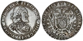 Austria Holy Roman Empire 1 Thaler 1653 KB Kremnitz. Ferdinand III (1637-1657). Av.: Laureate and armoured bust right. Rev.: Crowned double eagle with...