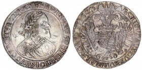 Austria Holy Roman Empire 1 Thaler 1654 KB Kremnitz. Ferdinand III (1637-1657). Av.: Laureate and armoured bust right. Rev.: Crowned double eagle with...