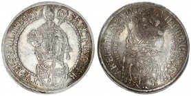 Austria Holy Roman Empire 1 Thaler 1657 Salzburg. Archidux of Guidobald von Thun and Hohenstein (1654-1668). Obv .: Crowned and nimbly Madonna with a ...