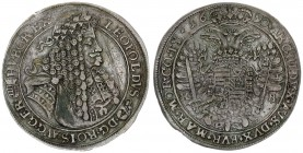 Austria Holy Roman Empire Hungary 1 Thaler 1690 KB Leopold I. Emperor (1657-1705). Kremnitz mint. Dated 1690. LEOPOLDVS (Madonna and child) • D G • RO...