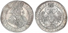 Austria Holy Roman Empire Hungary 1 Thaler 1695 KB Leopold I (1657-1705). Kremnica-Kormoczbanya. Tall armored bust r. dotted and solid circles with ti...
