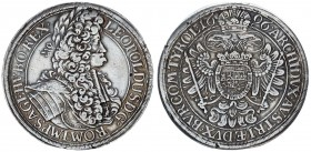 Austria Holy Roman Empire 1 Thaler 1696 Vienna. Leopold I (1657-1705). Av: LEOPOLDVS. D:G:ROM:IMP: S:A:GE:HV:BO:REX. Rv: Armored bust right with. Rv: ...