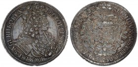 Austria Holy Roman Empire 1 Thaler 1702 Vienna. Leopold I (1657-1705). Av: LEOPOLDVS. D:G:ROM:IMP: S:A:GE:HV:BO:REX. Rv: Armored bust right with. Rv: ...
