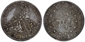 Austria Holy Roman Empire 1 Thaler 1710 Hall. Joseph I (1704-11). Averse: Finer design in curls and harness. Averse Legend: IOSEPHUS D: G: ROM: IMP: S...
