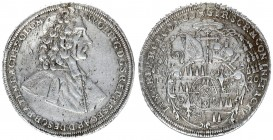 Austria Holy Roman Empire 1 Thaler Olomouc 1720 Kremsier. Wolfgang Schrattenbach (1711-1738). Av.: Half-length portrait to the right. Reverse: The fou...