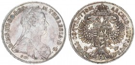 Austria Holy Roman Empire 1 Thaler 1778 Günzburg RR Maria Theresia (1740-1780). Av .: Bust n.r. with widow's veil. Reverse: Gekr. Double-headed eagle ...