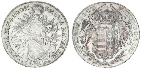 Austria Holy Roman Empire 1 Thaler Hungary 1780 SK-PD B Kremnitz. Maria Theresia (1740-1780). Averse: Angels holding crown above arms. Averse Legend: ...