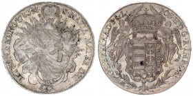 Austria Holy Roman Empire 1 Thaler Hungary 1783 B Kremnitz. Josef II (1780-90) Averse: Angels holding crown above arms. Reverse Legend: IOS II D G R I...