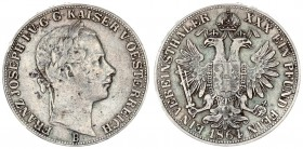 Austria Holy Roman Empire 1 Thaler 1864 B Kremnitz. Franz Joseph I(1848-1916). Averse: Laureate head right. Reverse: Crowned imperial double eagle. Si...