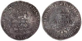 Roman German Empire 1 Thaler (1530) Linz. R Rare Ferdinand I (1522-1558-1564). Thaler undated (after 1530). Av .: Crowned and armored hip image n.r. w...