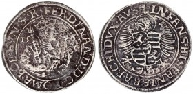 Roman German Empire 1 Thaler 1546 Joachimstal. Ferdinand I (1522-1558-1564). Av.: FERDINAD D G ROMA BOE HVN & R. Hip image on the right Rv.: INFANS HI...