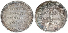 German States 1 Thaler Brunswick Wolfenbuttel 1597 Goslar. Heinrich Julius (1589-1613). Av.: Inscription in five lines in the field. Rv.: The Crucifix...