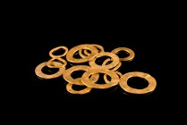 Lot of 14 Hellenistic Jewelry Ring Elements, c. 3rd-1st century BC (13-21mm, 15.06g).