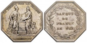 Jeton, Banque de France, 1800 (an VIII), AG 23.65 g. 36.2 mm par Dumarest Ref : Bramsen 30, Julius 779 Superbe