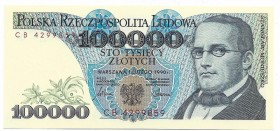 Peoples Republic of Poland, 100000 zloty 1990 CB - rare series