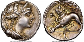 GAUL. Massalia. Ca. 2nd-1st centuries BC. AR drachm or tetrobol (16mm, 2.70 gm, 6h). NGC Choice XF S 5/5 - 5/5, Fine Style. Draped bust of Artemis rig...