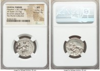 CILICIA. Tarsus. Mazaeus, as Satrap (ca. 361-334 BC). AR stater (23mm, 10.73 gm, 2h). NGC MS 4/5 - 4/5. B'LTRZ (Aramaic), Ba'altars seated left on bac...