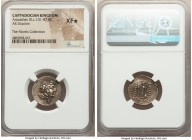 CAPPADOCIAN KINGDOM. Ariarathes IX Eusebes Philopater (ca. 101-85 BC). AR drachm (18mm, 1h). NGC XF S. Eusebeia under Mount Argaeus, dated Year 13 (88...