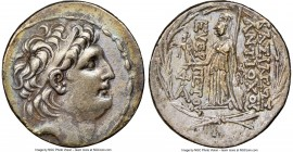 SELEUCID KINGDOM. Antiochus VII Euergetes (Sidetes) (138-129 BC). AR tetradrachm (29mm, 12h). NGC Choice VF, light scratches. Antioch on the Orontes. ...