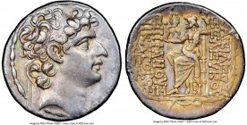 SELEUKID KINGDOM. Seleucus VI Epiphanes Nicator (ca. 96-94 BC). AR tetradrachm (28mm, 1h). NGC XF. Antioch. Diademed head of Seleucus VI right, diadem...