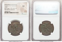 PTOLEMAIC EGYPT. Ptolemy VI Philometor, first reign (180-145 BC). AE hemidrachm (28mm, 10h). NGC XF. Alexandria, under Cleopatra I as regent, 180-176 ...