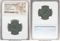MACEDON. Amphipolis. Plotina (ca. AD 105-122(?)). AE (25mm, 10.31 gm, 6h). NGC XF 4/5 - 4/5. CΕΒΑCΤΗ-ΠΛWΤΕΙΝΑ, draped bust of Plotina right, seen from...
