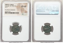 THRACE. Coela. Caracalla (AD 198-217). AE (17mm, 12h). NGC Choice VF. ANTONI-NVS AVG, laureate, draped and cuirassed bust of Caracalla right, seen fro...