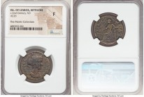 LESBOS. Mytilene. Pseudo-autonomous issue, time of Antoninus Pius (AD 138-161). AE (26mm, 6h). NGC Fine. ΦΛΑ-ΝƐΙΚOΜΑ-ΧΙϹ, draped bust of Flavia Nicoma...