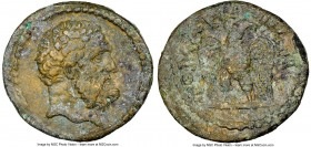 LYDIA. Tomaris. Ca. 2nd-3rd centuries AD. AE (15mm, 6h). NGC VF. Bearded head of Heracles right / TOMAPHNΩN, eagle standing facing, head right. BMC -....